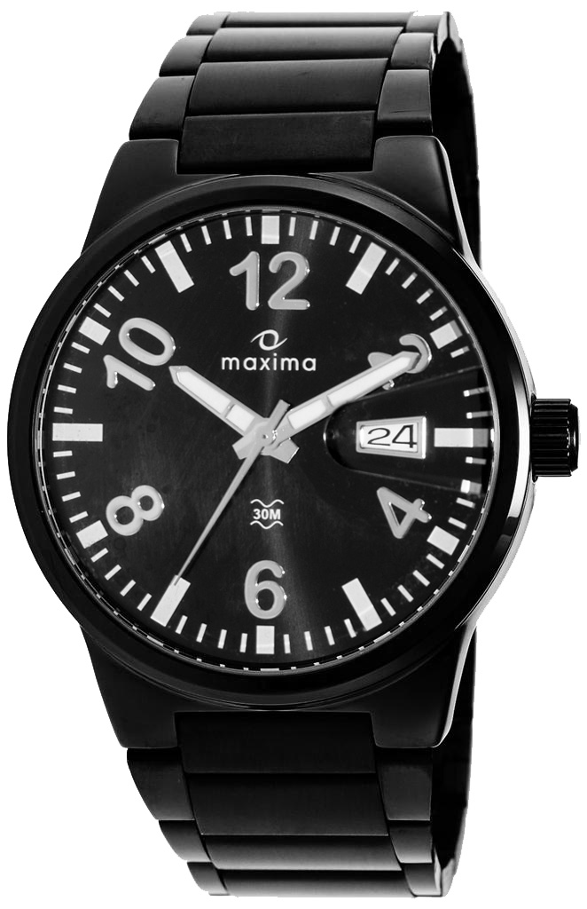 for s watches metal maxima itm mens ebay black watch sports