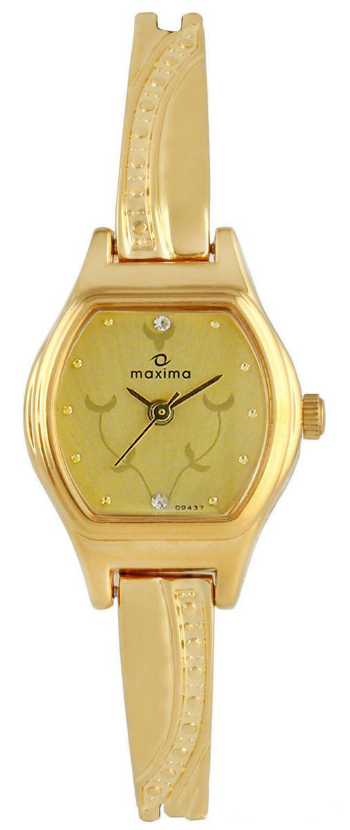 maxima gold analogue watches 09437bply for prices