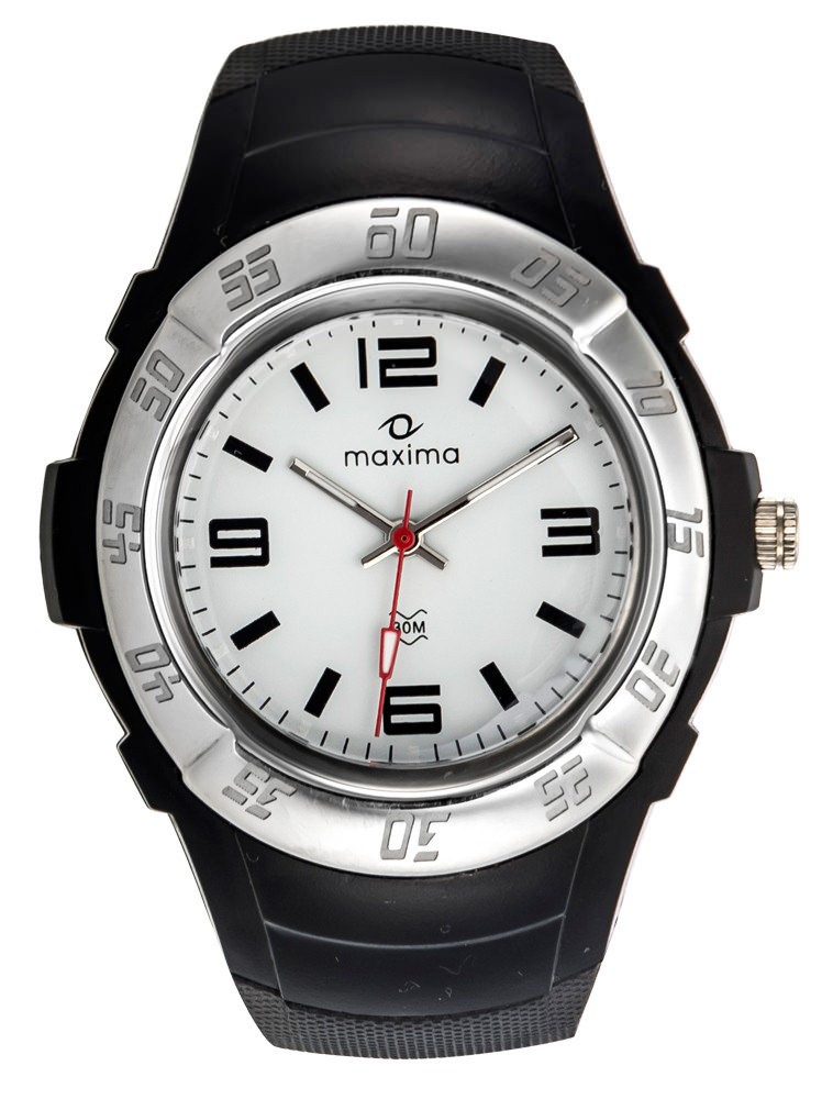 maxima black silver analogue watches 23233ppgn for prices