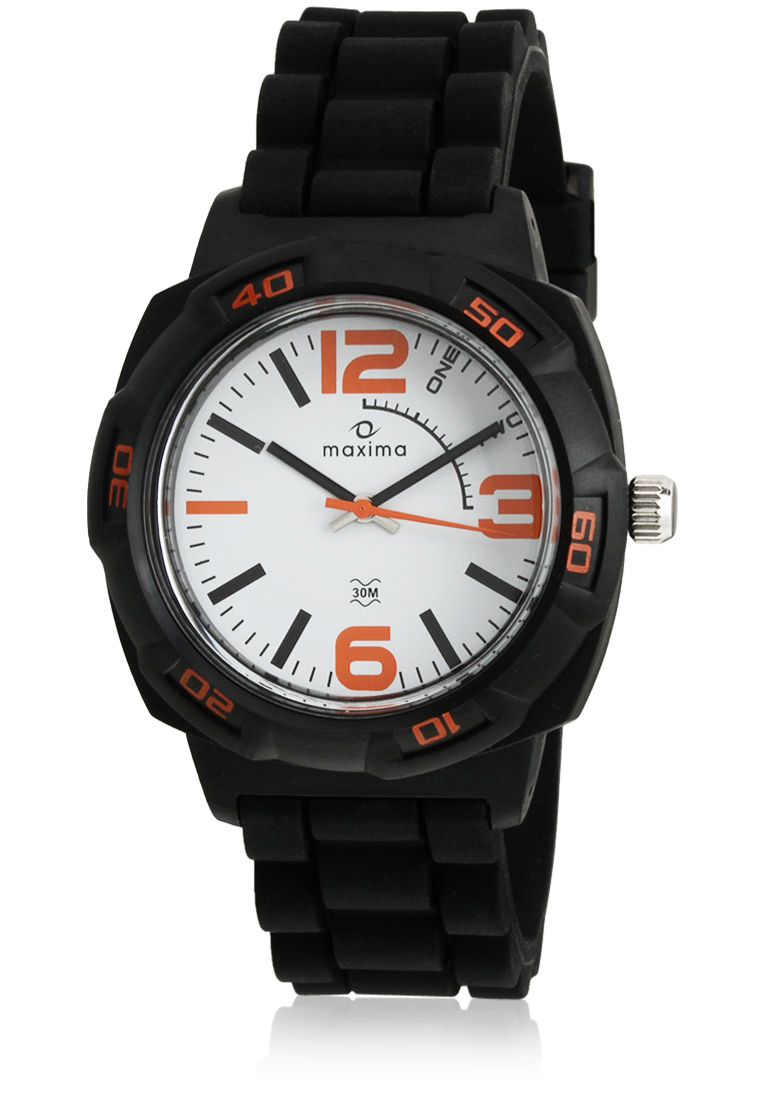 maxima black analogue watches 27663ppgw for prices
