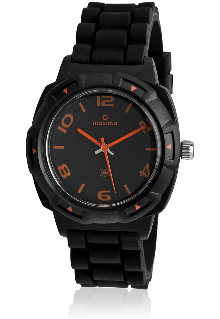 maxima black analogue watches 27665ppgw for prices