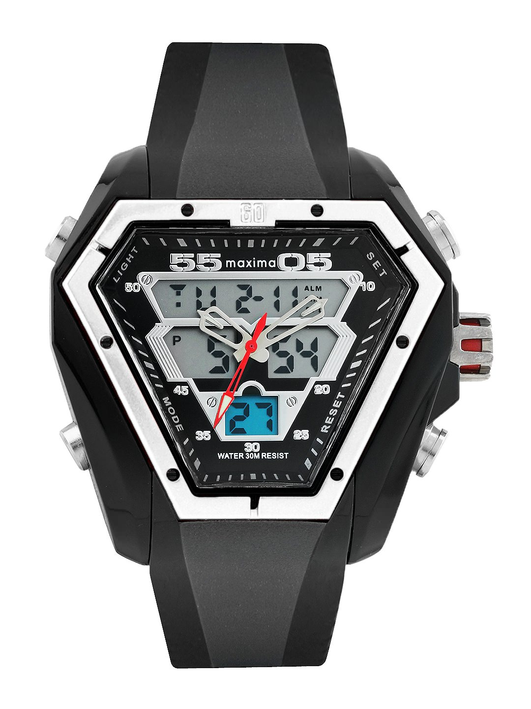 maxima black analogue digital watches 28651ppan for prices