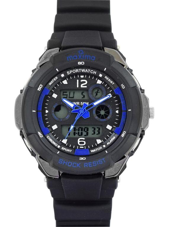 maxima black analogue digital watches 34402ppan for prices