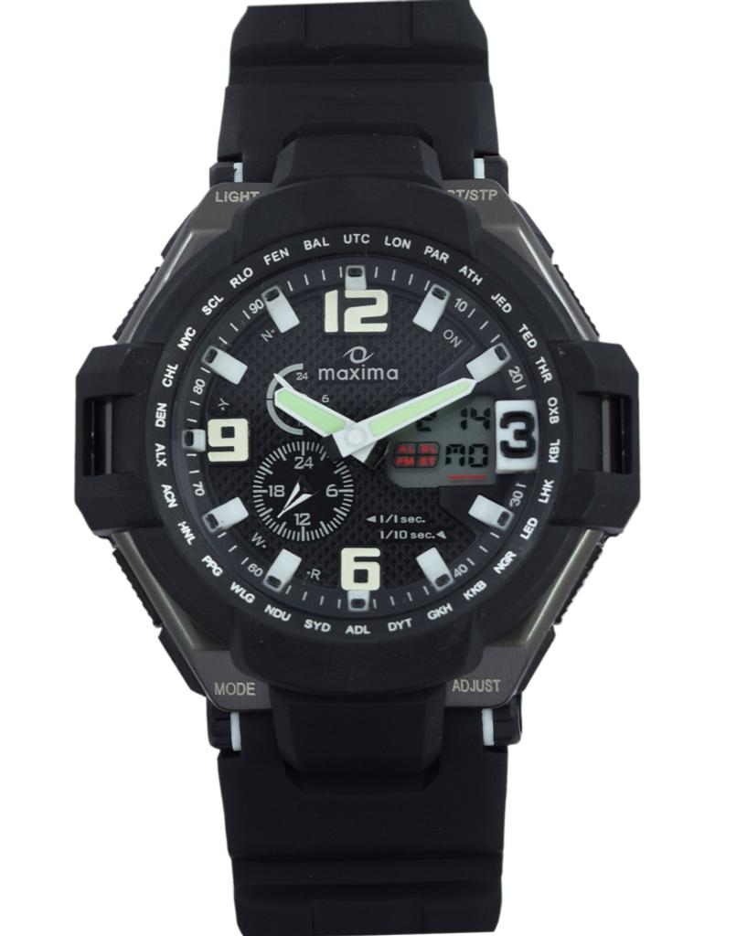 maxima black analogue digital watches 34420ppan for prices