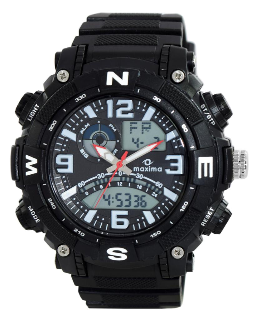 maxima black analogue digital watches 38230ppan for prices