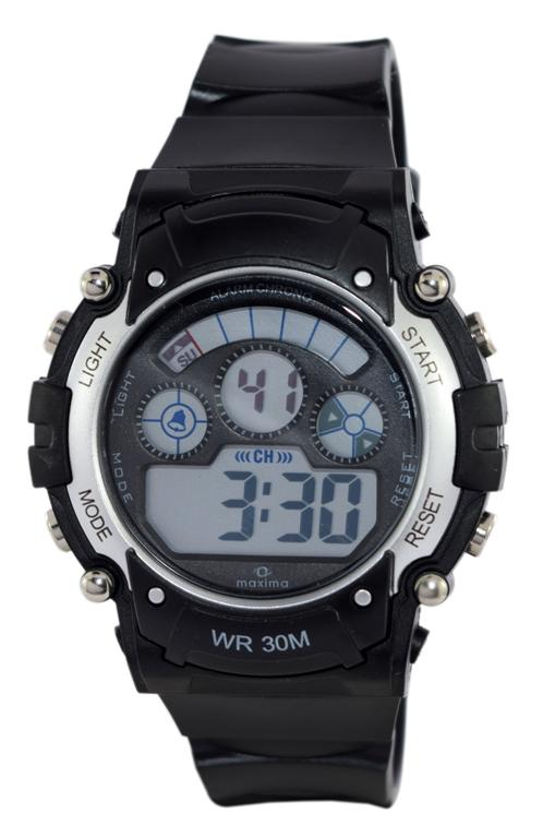 maxima black silver digital watches 38991ppdn for prices