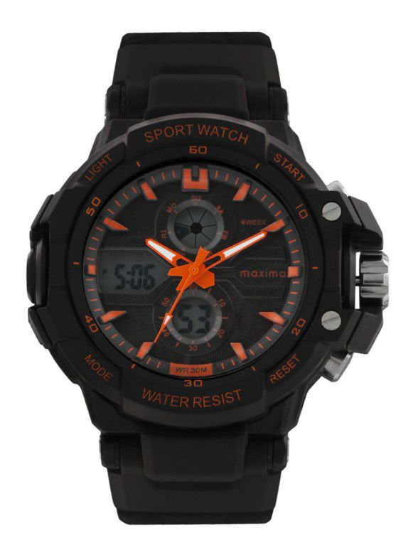maxima black analogue digital watches 28601ppan for prices