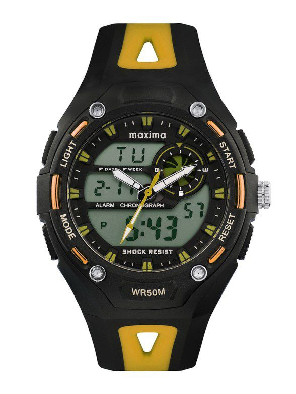 maxima black analogue digital watches 28611ppan for prices